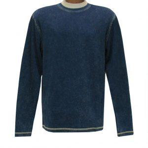 Men's R. Options by Basic Options Long Sleeve Ribbed Pigment Dyed Tee #8500 Navy (L & XXL, ONLY!)