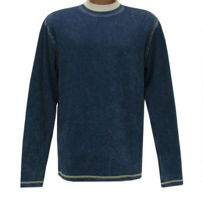 Men's R. Options by Basic Options Long Sleeve Ribbed Pigment Dyed Tee #8500 Navy