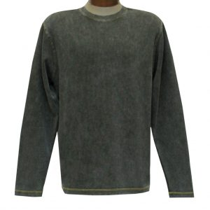 Men's R. Options by Basic Options Long Sleeve Ribbed Pigment Dyed Tee #8500 Bark (M & XL, ONLY!)
