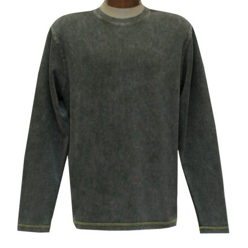 Men's R. Options by Basic Options Long Sleeve Ribbed Pigment Dyed Tee #8500 Bark