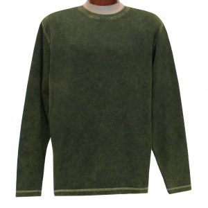 Men's R. Options by Basic Options Long Sleeve Ribbed Pigment Dyed Tee #8500 Pine Green (L, ONLY!)