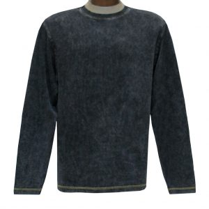 Men's R. Options by Basic Options Long Sleeve Ribbed Pigment Dyed Tee #8500 Charcoal (M & L, ONLY!)