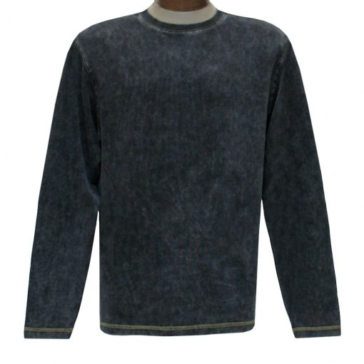 Men's R. Options by Basic Options Long Sleeve Ribbed Pigment Dyed Tee #8500 Charcoal