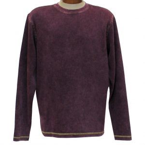 Men's R. Options by Basic Options Long Sleeve Ribbed Pigment Dyed Tee #8500 Wine