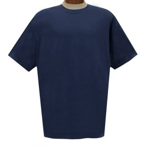 Men's R. Options by Basic Options Short Sleeve Pigment Dyed Tee #4900, Navy (NEW COLOR!)