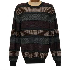 Men's F/X Fusion Textured Crew Neck Sweater #3010 Vino