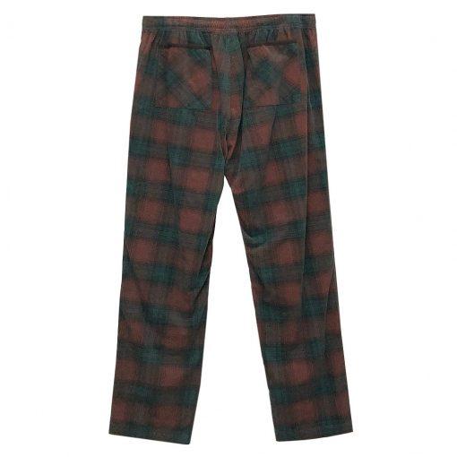 Men's Basic Options Corduroy Yarn Dyed Plaid Lounge Pants, #41043-6A Rust/Hunter