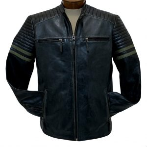 Men's Scully Premium Rugged Lambskin Leather Jacket #1081 Black