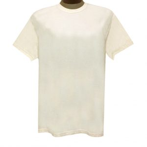 Men's R. Options by Basic Options Short Sleeve Pigment Dyed Tee #4900, Ivory (NEW COLOR!)