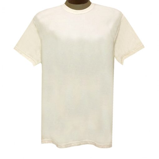 Men's R. Options by Basic Options Short Sleeve Pigment Dyed Tee #4900, Ivory