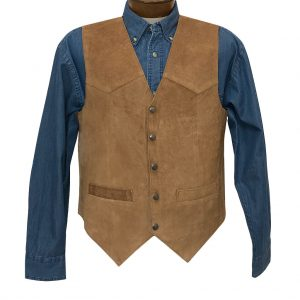 Men's Scully Calf Suede Classic All Leather Vest #507-212 Rust, Special Purchase (M & XXL, ONLY!)
