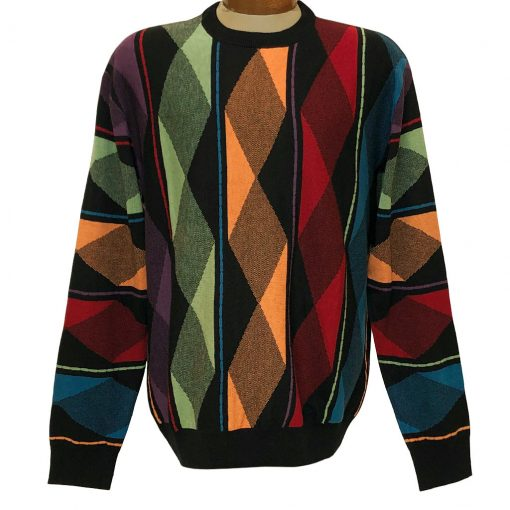 Men's F/X Fusion Classic Novelty Crew Neck Sweater #A1197 Multi