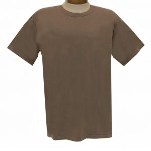 Men's R. Options by Basic Options Short Sleeve Pigment Dyed Tee #4900, Brown (NEW COLOR!)