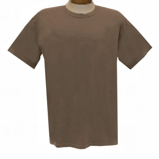 Men's R. Options by Basic Options Short Sleeve Pigment Dyed Tee #4900, Brown