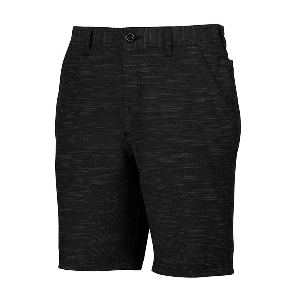 Men's Weekender Flat Front Travel 4-Way Stretch Shorts, Caicos #M039460 Black
