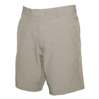 Men's Weekender Flat Front Travel Stretch Technology Shorts, Cape Coral #M039433 Khaki