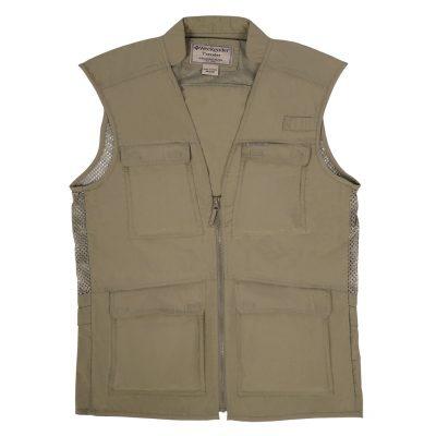 Men's Weekender Nylon Travel Vest, Odyssey #M020050 Khaki