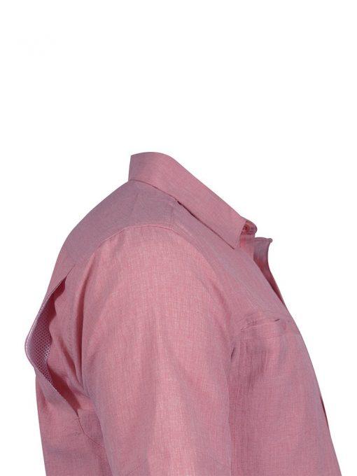 Men's Weekender Short Sleeve Sun Protection Travel Shirt, Banyon #M03104S Crimson