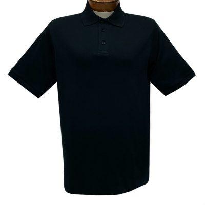 Men's Gionfriddo Super Soft Pima Cotton Short Sleeve Polo Shirt #GK-2003 Black