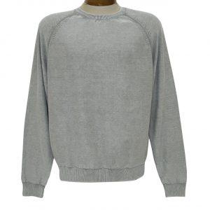 Men's F/X Fusion 100% Cotton Raglan Sleeve Sand Washed Finish Crew Neck Sweater #3000 Grey