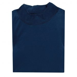 Men's Gionfriddo Super Soft Interlock Pima Cotton Long Sleeve Mock Turtleneck Shirt #GK-2100 Admiral Blue