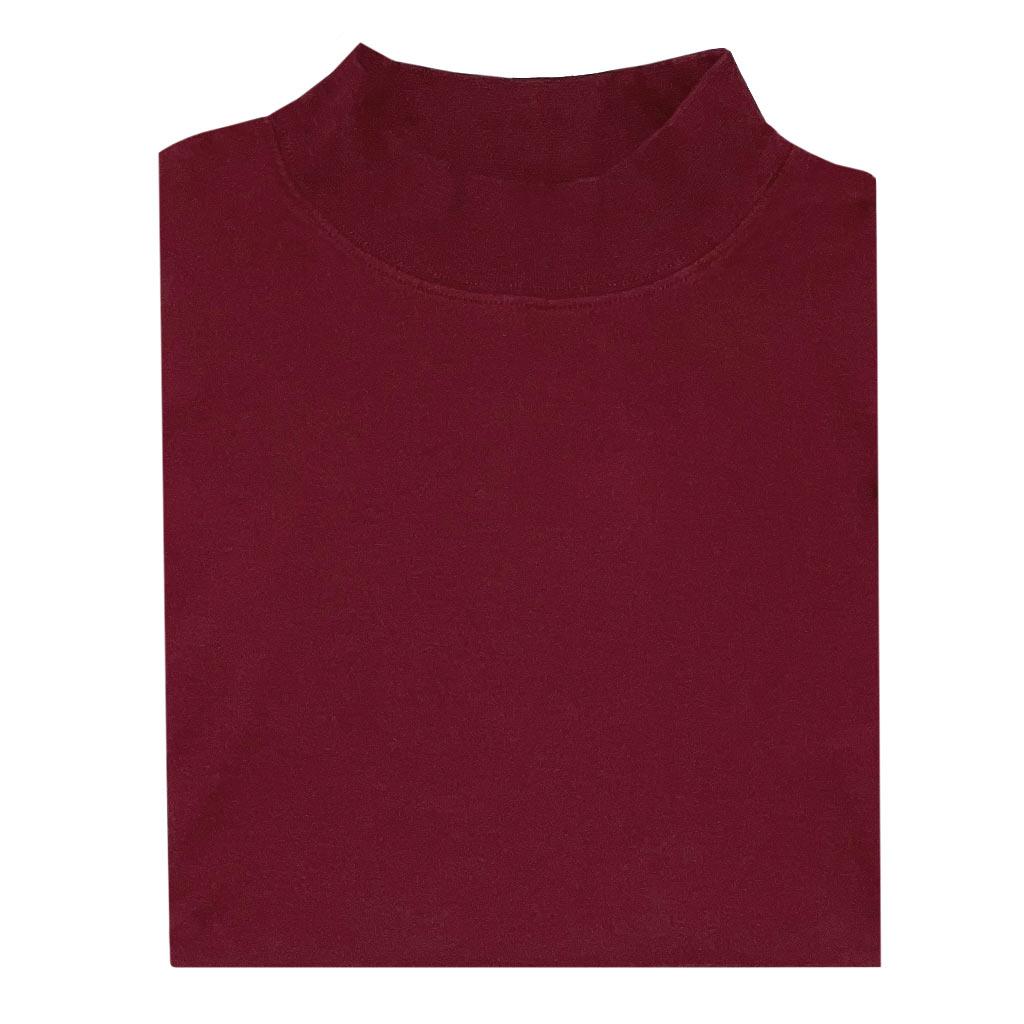 Men's Gionfriddo Super Soft Interlock Pima Cotton Long Sleeve Mock Turtleneck Shirt #GK-2100 Wine