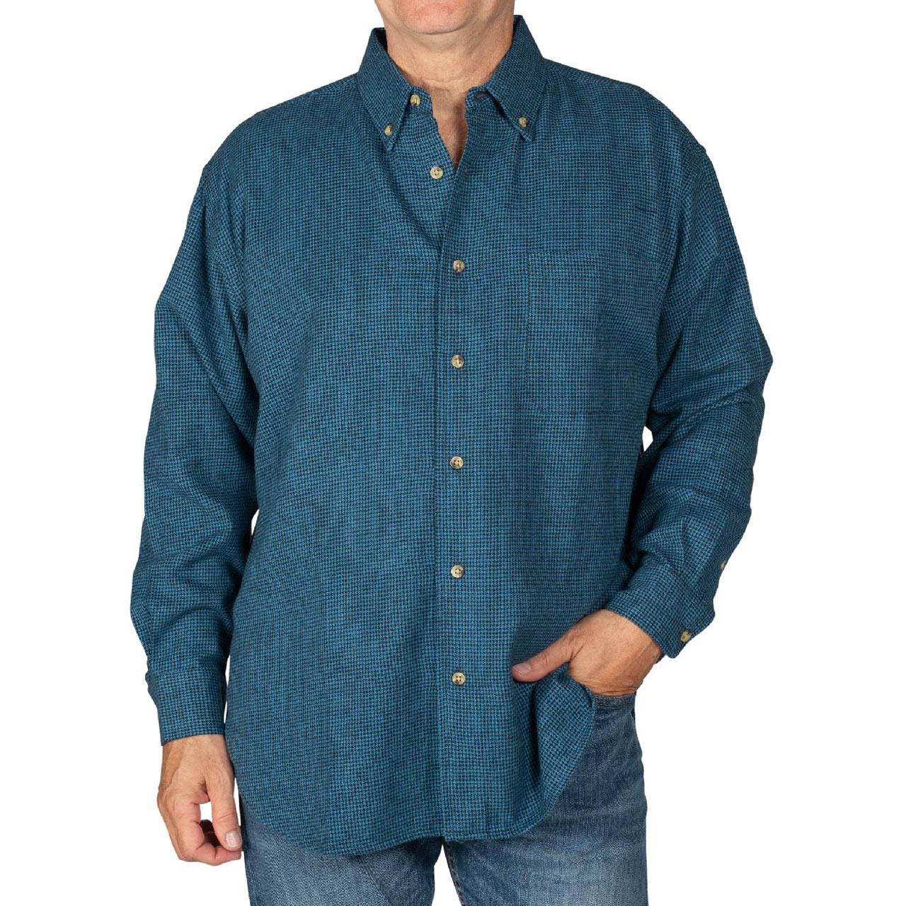 Men's Woodland Trail By Palmland Long Sleeve 100% Cotton Woven Herringbone Flannel Shirt #5900-300