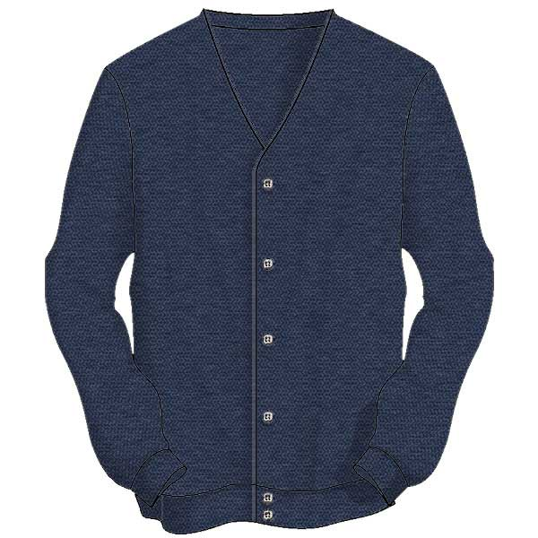 Men's Sweater The Original Links Cardigan 4000-denim-heather