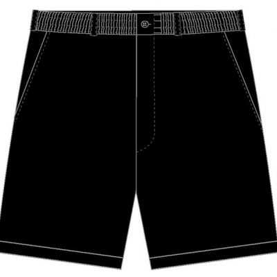 Men's LD Sport By Palmland Full Elastic Short Black,