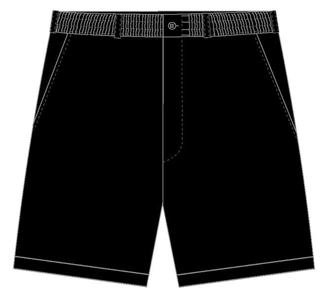 Men's LD Sport By Palmland Full Elastic Short Black,