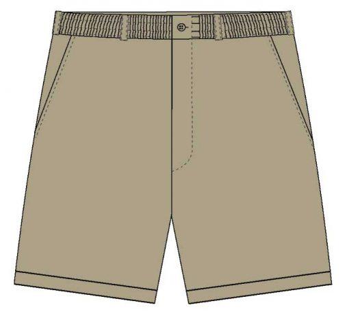 Men's LD Sport By Palmland Full Elastic Short Khaki