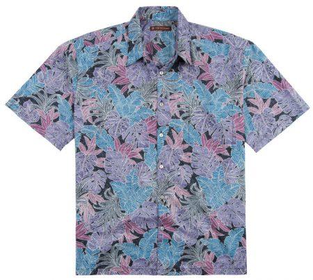 Men's Tori Richard® Cotton Lawn Short Sleeve Shirt, Jungle Mix #6361 Black