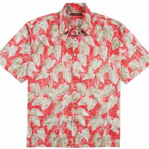 "Men's Tori Richard® Cotton Lawn Short Sleeve Shirt, Native Roots #6369 Red ""USE COUPON TR1 WHEN YOU CHECK OUT"""