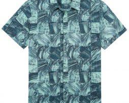 Men's Tori Richard® Cotton Lawn Short Sleeve Shirt, Obscura #6373 Black