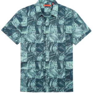 "Men's Tori Richard® Cotton Lawn Short Sleeve Shirt, Obscura #6373 Black ""USE COUPON TR1 WHEN YOU CHECK OUT"""