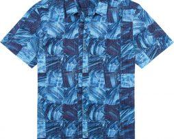 Men's Tori Richard® Cotton Lawn Short Sleeve Shirt, Obscura #6373 Navy