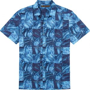 "Men's Tori Richard® Cotton Lawn Short Sleeve Shirt, Obscura #6373 Navy ""USE COUPON TR1 WHEN YOU CHECK OUT"""