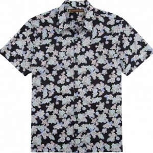 "Men's Tori Richard® Cotton Lawn Short Sleeve Shirt, Mosaic #6844 Black ""USE COUPON TR1 WHEN YOU CHECK OUT"""