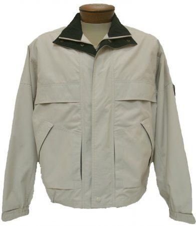 Men's Cotton Traders Microfiber Jacket With Contrast Trim, Tan/Black