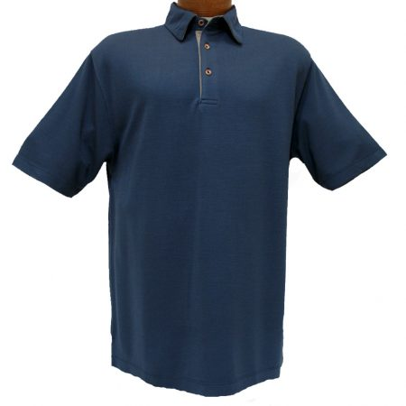 F/X Fusion® Short Sleeve Modal Blend Melange Polo Golf Shirt #600 Navy