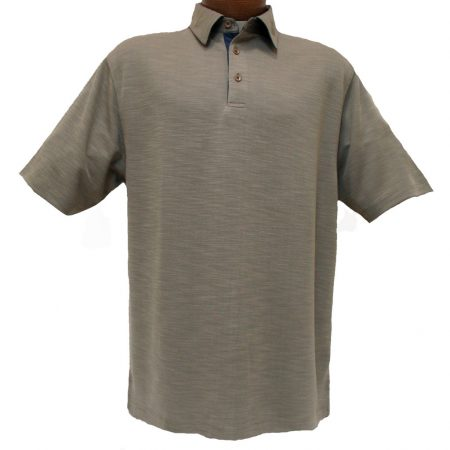F/X Fusion® Short Sleeve Modal Blend Melange Polo Golf Shirt #600 Taupe