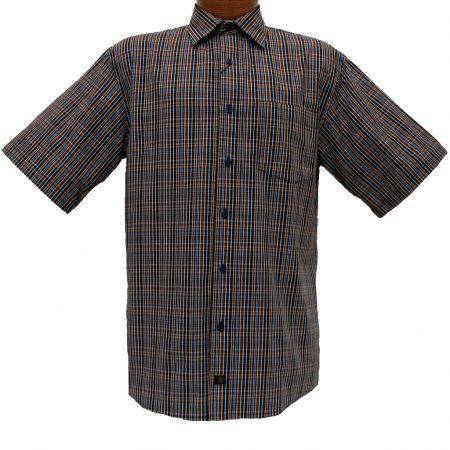 Men's F/X Fusion® Short Sleeve Woven Sport Shirt, Copper Multi Stripe #D756