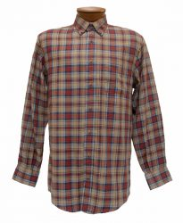 Men's Enro® Franklin Double Faced Twill Long Sleeve 100% Cotton Non-Iron Woven Plaid Sport Shirt, Multi