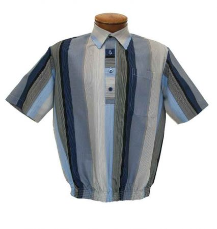 Men's D'Accord Short Sleeve Banded Bottom Shirt 6405 Blue