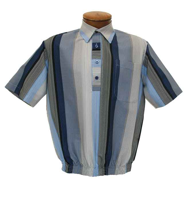 Men's D'Accord Short Sleeve Banded Bottom Shirt 6405 Blue