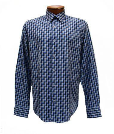 Men's Karma Blu® Long Sleeve Woven Sport Shirt #704 Blue