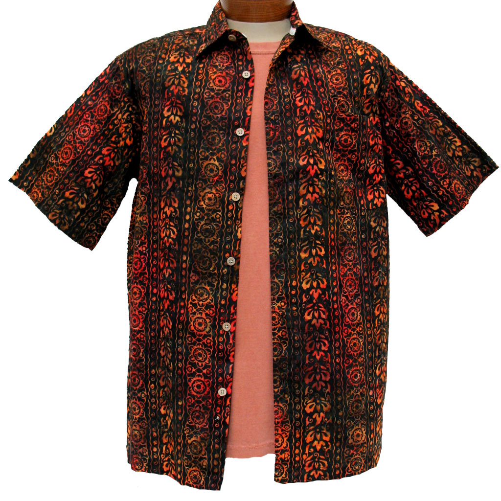 Men's Island By Basic Options® Short Sleeve Batik Shirt
