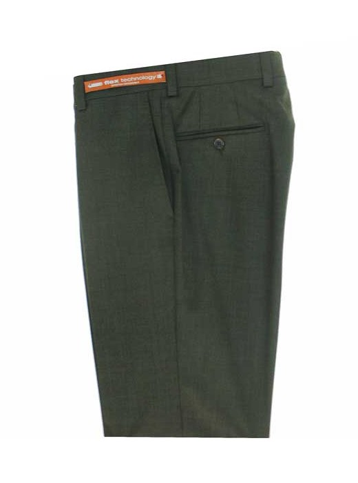 Jack Victor Riviera Traveler Men's Dress Pants OLIVE HEATHER R595-36