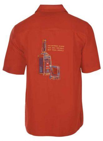 Men's Weekender® Embroidered Short Sleeve Shirt, Bourbon Barrel Paprika