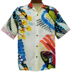 Men's Jams World® Short Sleeve Crushed Rayon Retro Aloah Shirt, Cliche